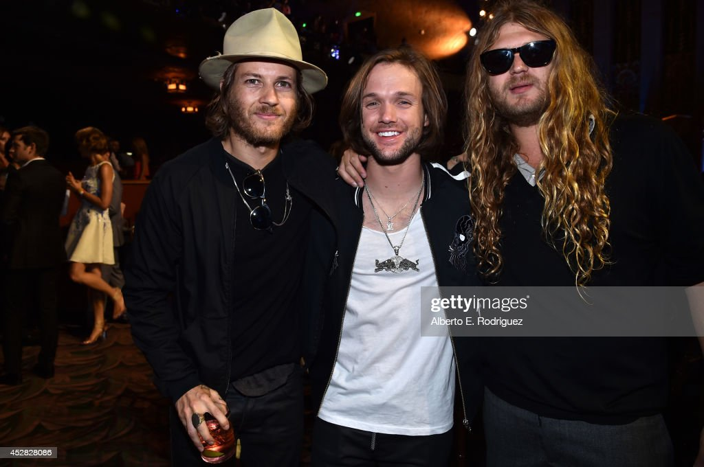 Professional snowboarder Louie Vito and guests at the 2014 Young Hollywood Awards brought to you by Samsung Galaxy at The Wiltern on July 27 2014 in...