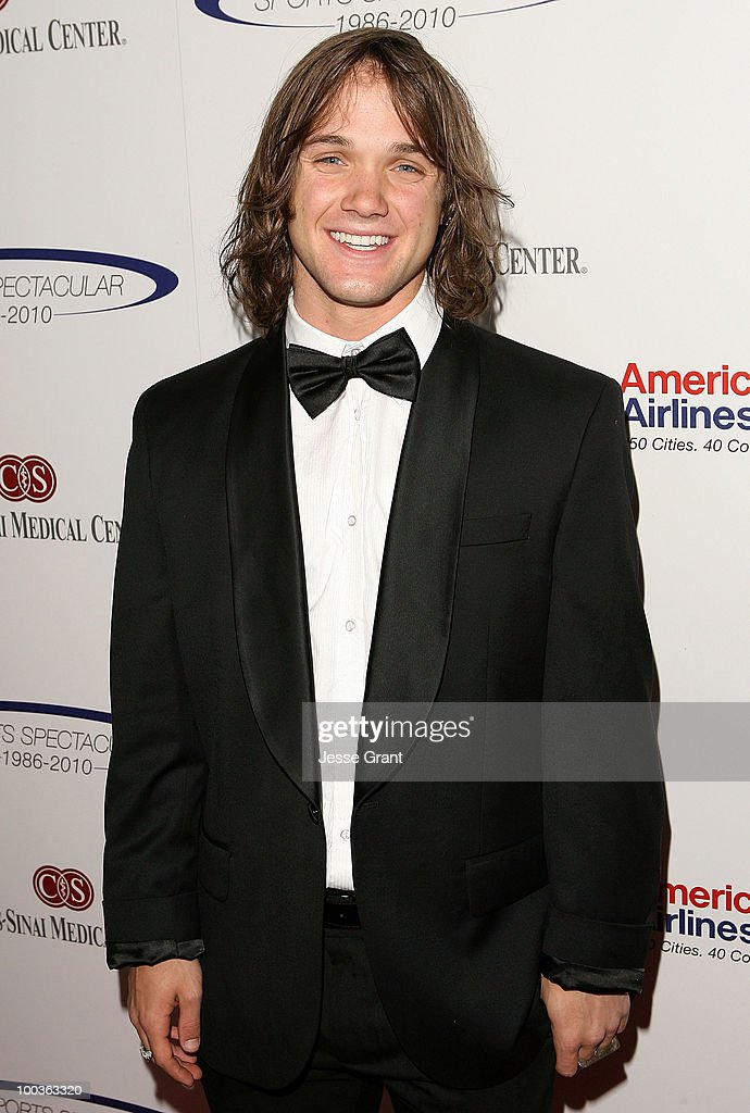 Professional snowboarder Louie Vito arrives at the 25th anniversary of CedarsSinai Sports Spectacular at the Hyatt Regency Century Plaza on May 23...