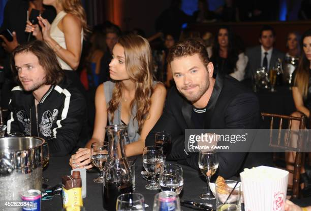 Professional snowboarder Louie Vito guest and actor Kellan Lutz at the 2014 Young Hollywood Awards brought to you by Samsung Galaxy at The Wiltern on...