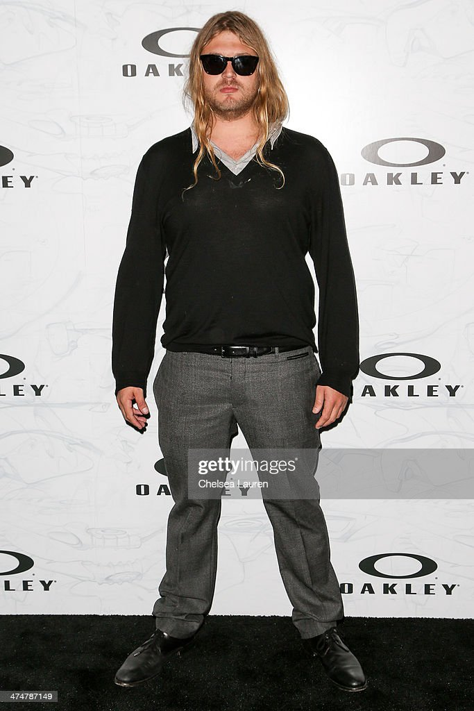 Professional snowboarder Luke The Dingo Trembath arrives at Oakley's Disruptive by Design at Red Studios on February 24, 2014 in Los Angeles, California.