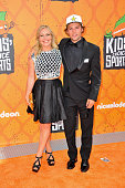 Professional snowboarders Jamie Anderson and Tyler Nicholson arrive at the Nickelodeon Kids' Choice Sports Awards 2016 at UCLA's Pauley Pavilion on...