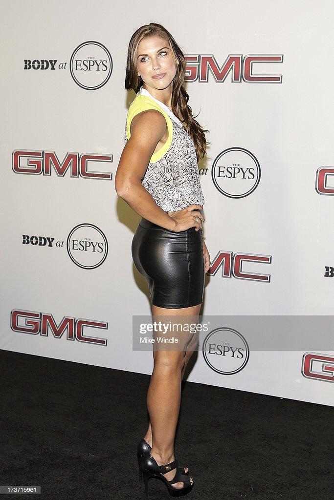 Professional soccer player Alex Morgan arrives at ESPN the Magazine's 'Body Issue' 5th annual ESPY's event at Lure on July 16, 2013 in Hollywood, California.