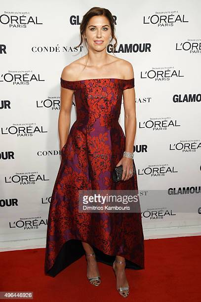 Professional soccer player Alex Morgan attends 2015 Glamour Women Of The Year Awards at Carnegie Hall on November 9 2015 in New York City