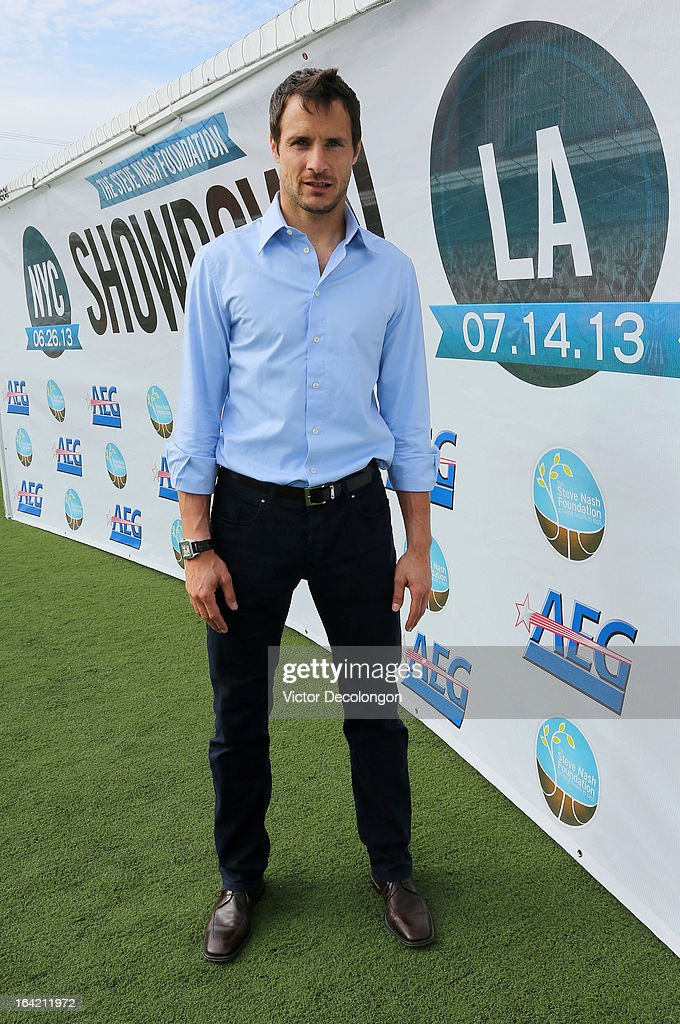 Professional soccer player Carlo Cudicini of the Los Angeles Galaxy attends the announcement for professional basketball player Steve Nash's charity soccer events at The Salvation Army Red Shield Youth & Community Center on March 20, 2013 in Los Angeles, California.