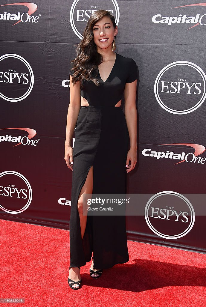 Professional soccer player Christen Press attends The 2015 ESPYS at Microsoft Theater on July 15, 2015 in Los Angeles, California.