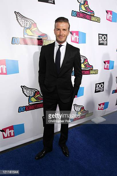 Professional soccer player David Beckham arrives at the 2011 VH1 Do Something Awards at the Hollywood Palladium on August 14 2011 in Hollywood...