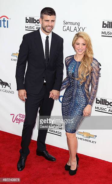 Professional soccer player Gerard Pique and recording artist Shakira attend the 2014 Billboard Music Awards at the MGM Grand Garden Arena on May 18...