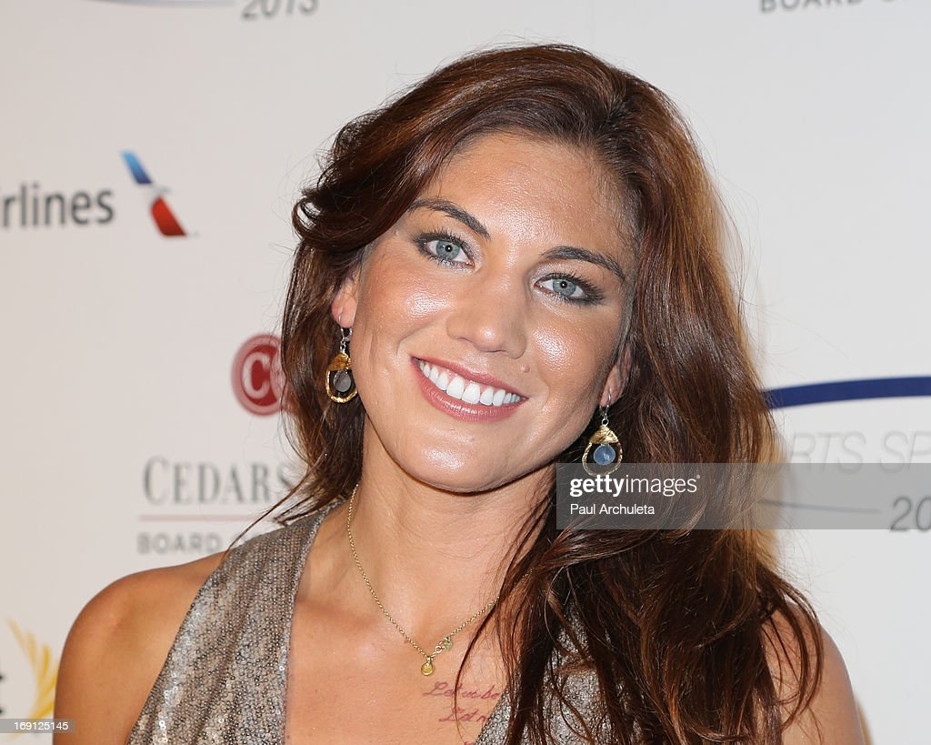 Professional Soccer Player <a gi-track='captionPersonalityLinkClicked' href=/galleries/search?phrase=Hope+Solo&family=editorial&specificpeople=580524 ng-click='$event.stopPropagation()'>Hope Solo</a> attends the 28th Annual Sports Spectacular Anniversary Gala at the Hyatt Regency Century Plaza on May 19, 2013 in Century City, California.