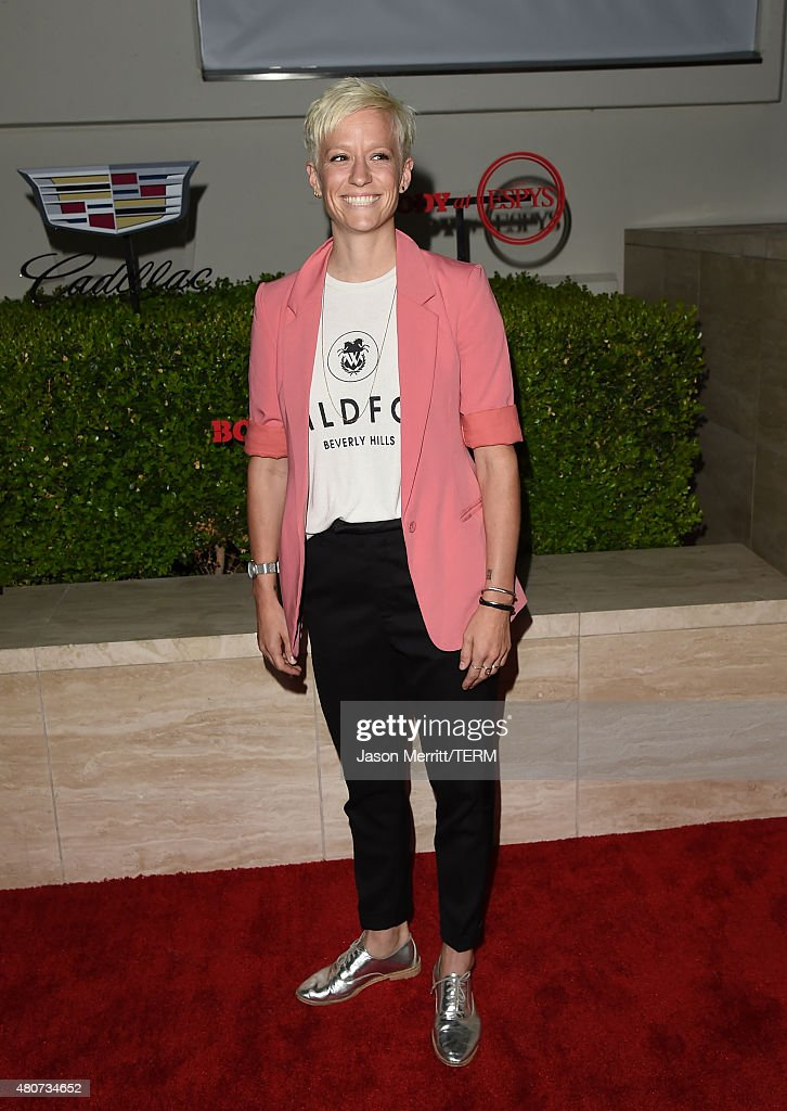 Professional soccer player <a gi-track='captionPersonalityLinkClicked' href=/galleries/search?phrase=Megan+Rapinoe&family=editorial&specificpeople=736784 ng-click='$event.stopPropagation()'>Megan Rapinoe</a> attends BODY at ESPYs at Milk Studios on July 14, 2015 in Hollywood, California.