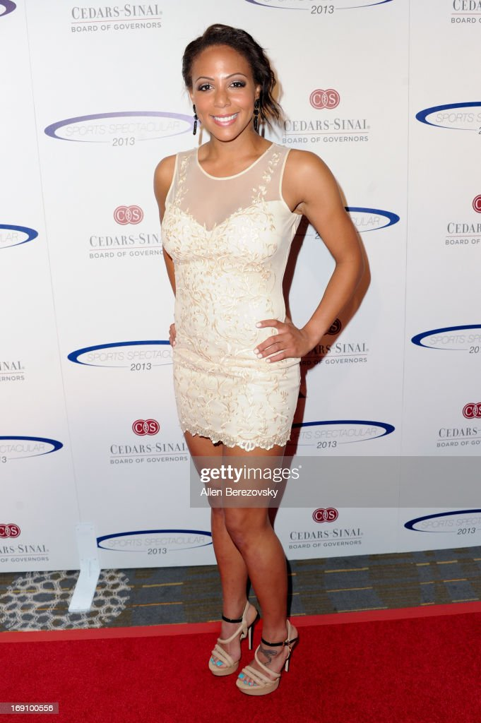 Professional soccer player <a gi-track='captionPersonalityLinkClicked' href=/galleries/search?phrase=Sydney+Leroux&family=editorial&specificpeople=5760664 ng-click='$event.stopPropagation()'>Sydney Leroux</a> arrives at the Sports Spectacular 28th Anniversary Gala at the Hyatt Regency Century Plaza on May 19, 2013 in Century City, California.