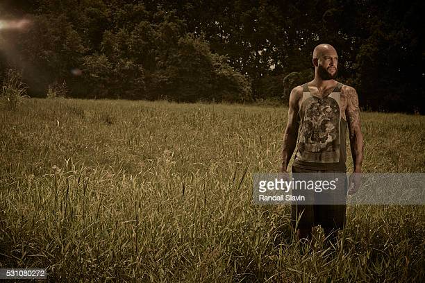 Professional soccer player Tim Howard is photographed for Ad Week on July 10 2014 in Memphis Tennessee