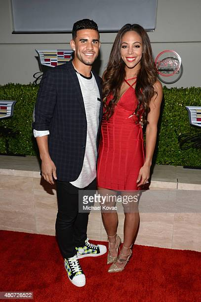 Professional soccer players Dom Dwyer and Sydney Leroux attend BODY at ESPYs at Milk Studios on July 14 2015 in Hollywood California