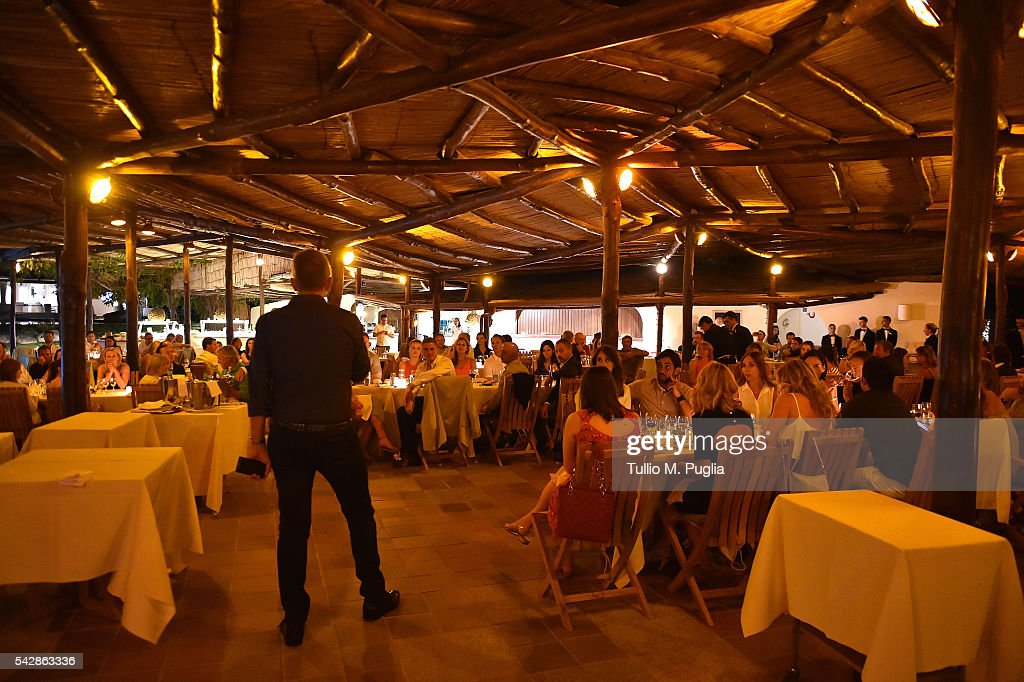 Professional Sports Group CEO Jamie Cunningham introduces the Welcome Dinner prior to The Costa Smeralda Invitational golf tournament at Pevero Golf Club - Costa Smeralda on June 24, 2016 in Olbia, Italy.