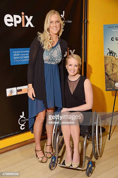 Professional surfer Bethany Hamilton and Paralympian Mallory Weggemann attend the 'The Current' New York series premiere at Times Center on March 5...
