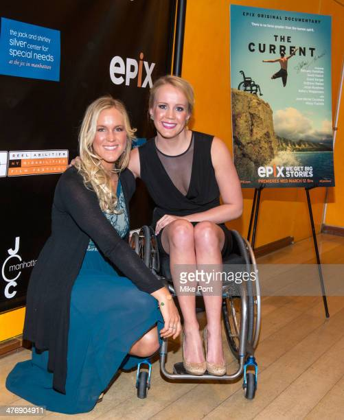 Professional Surfer Bethany Hamilton and Paralympic Gold Medalist Mallory Weggemann attend 'The Current' screening at The Times Center on March 5...