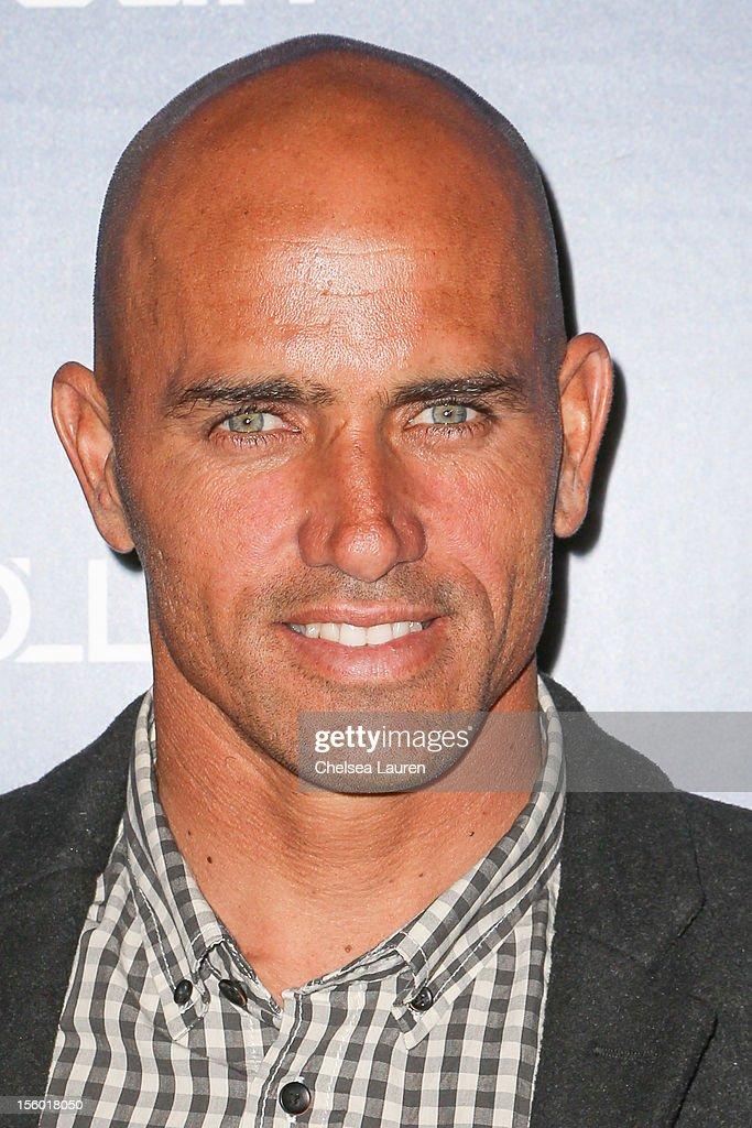 Professional surfer <a gi-track='captionPersonalityLinkClicked' href=/galleries/search?phrase=Kelly+Slater&family=editorial&specificpeople=207101 ng-click='$event.stopPropagation()'>Kelly Slater</a> arrives at the Life Rolls On foundation's 9th annual 'Night by the Ocean' gala at Ritz Carlton Hotel on November 10, 2012 in Marina del Rey, California.