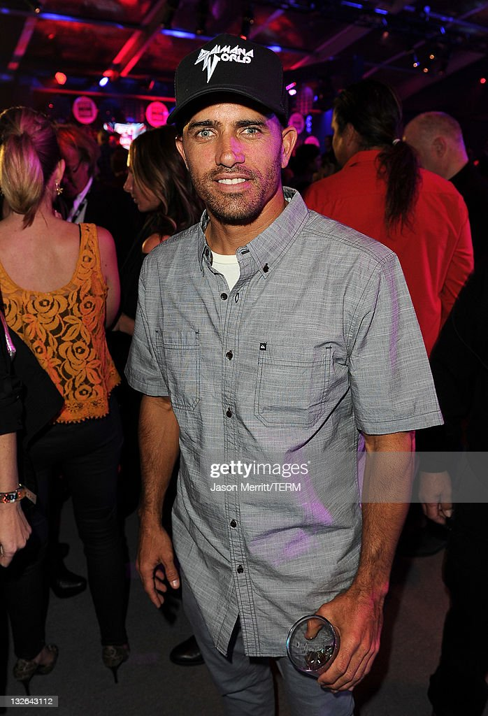 Professional surfer Kelly Slater attends UFC on Fox: Live Heavyweight Championship at the Honda Center on November 12, 2011 in Anaheim, California.