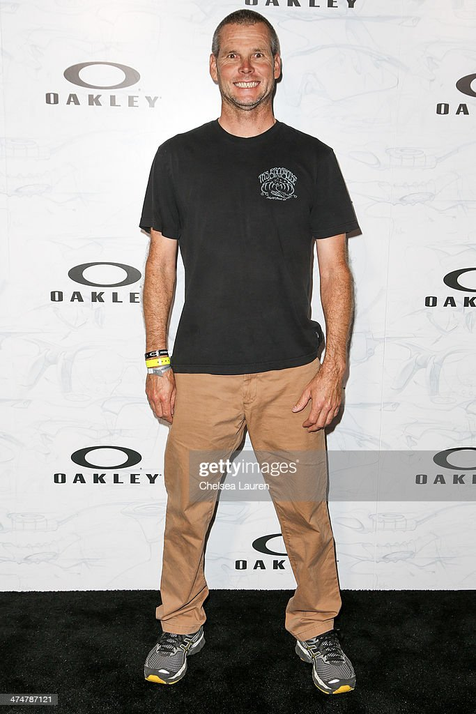 Professional surfer Richie Collins arrives at Oakley's Disruptive by Design at Red Studios on February 24, 2014 in Los Angeles, California.