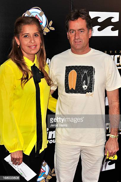 Professional surfer Tom Curren and wife Maki Curren attend the 2013 Billabong XXL Big Wave Awards at The Grove on May 3 2013 in Anaheim California