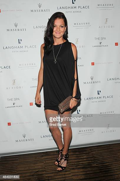 Professional tennis player Agnieszka Radwanska attends Taste of Tennis Week Party With the Pros at Langham Place on August 23 2014 in New York City