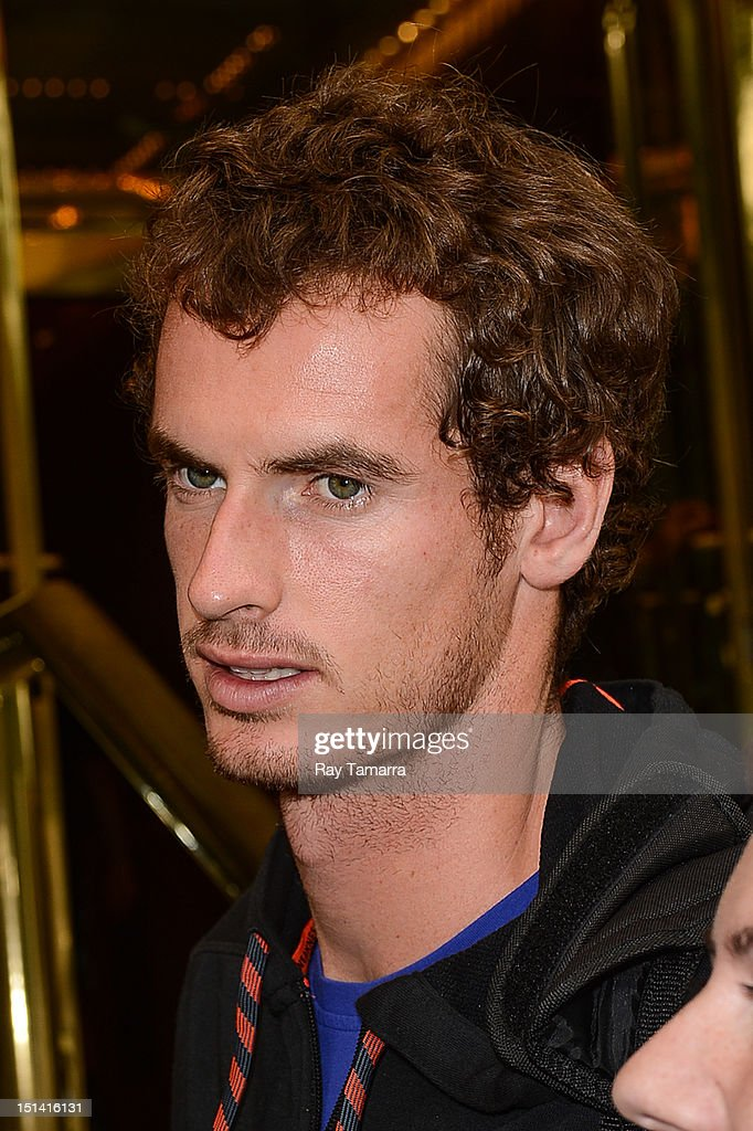 Professional tennis player <a gi-track='captionPersonalityLinkClicked' href=/galleries/search?phrase=Andy+Murray+-+Tennis+Player&family=editorial&specificpeople=200668 ng-click='$event.stopPropagation()'>Andy Murray</a> enters a Midtown Manhattan hotel on September 6, 2012 in New York City.