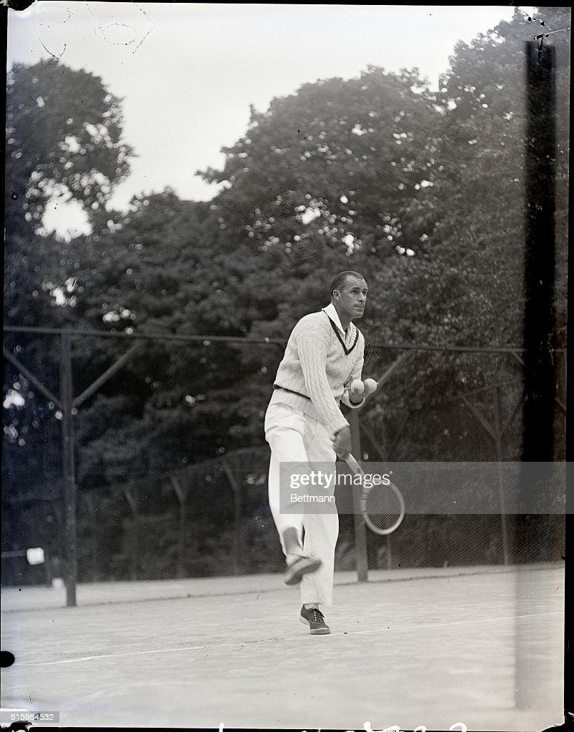 Bill Tilden in Casual Tennis Action