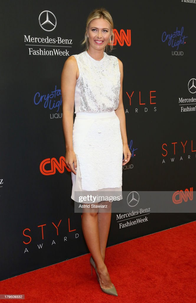Professional tennis player Maria Sharapova attends the 10th annual Style Awards during Mercedes Benz Fashion Week Spring 2014 at Lincoln Center on September 4, 2013 in New York City.