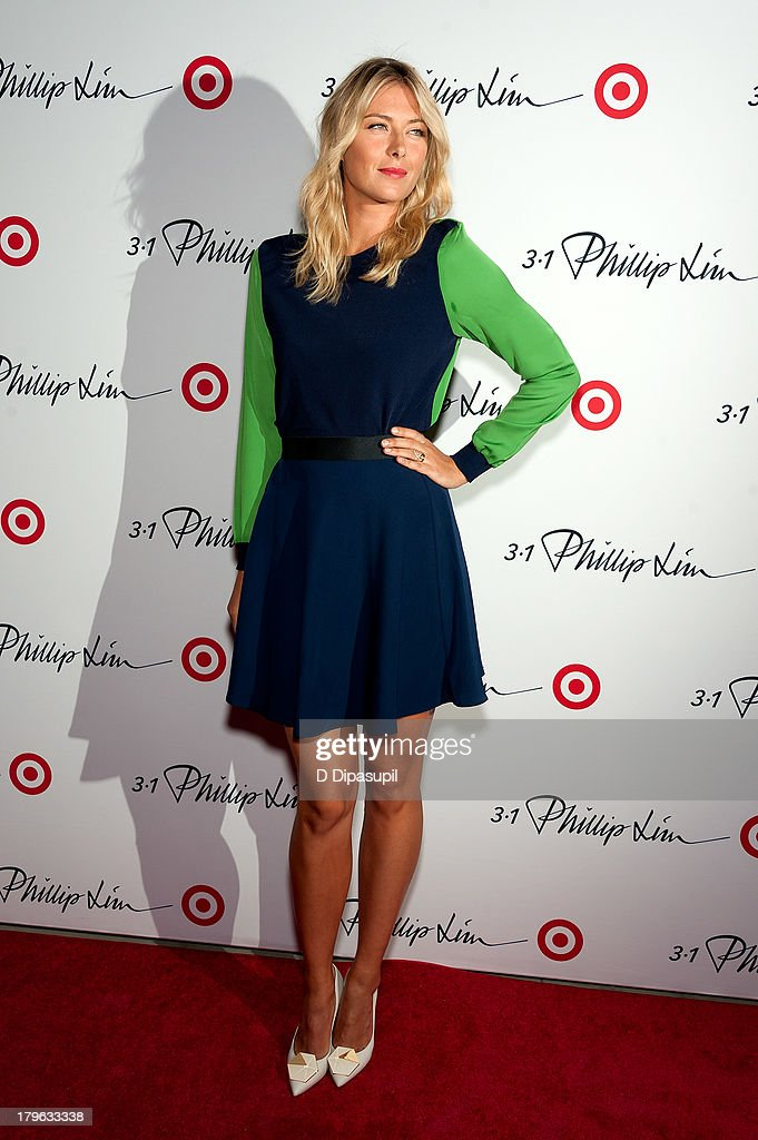 Professional tennis player Maria Sharapova attends the 3.1 Phillip Lim for Target Launch Event at Spring Studio on September 5, 2013 in New York City.