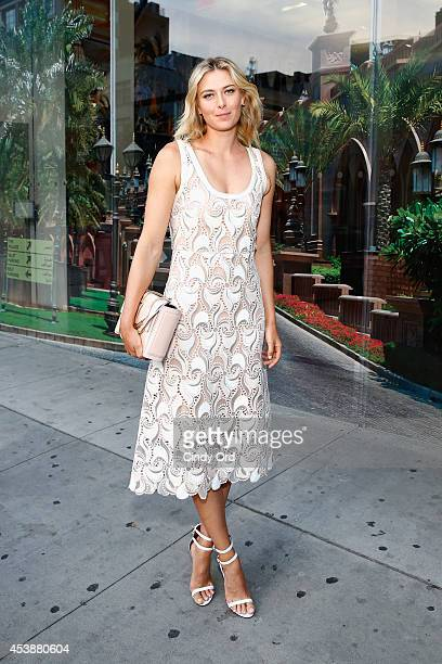 Professional tennis player Maria Sharapova attends the CFDA Celebrates Fashion Targets Breast Cancer 20th Anniversary event with Maria Sharapova...