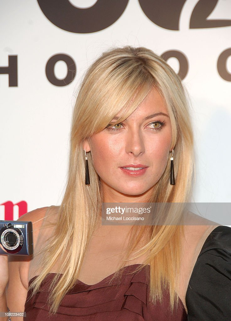 professional tennis player maria sharapova attends the unveiling of the new canon powershot diamond collection at