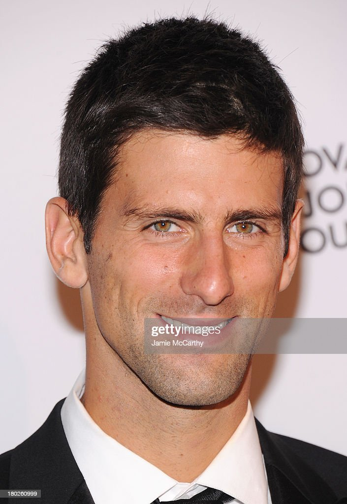 Professional tennis player <a gi-track='captionPersonalityLinkClicked' href=/galleries/search?phrase=Novak+Djokovic&family=editorial&specificpeople=588315 ng-click='$event.stopPropagation()'>Novak Djokovic</a> attends the <a gi-track='captionPersonalityLinkClicked' href=/galleries/search?phrase=Novak+Djokovic&family=editorial&specificpeople=588315 ng-click='$event.stopPropagation()'>Novak Djokovic</a> Foundation New York dinner at Capitale on September 10, 2013 in New York City.