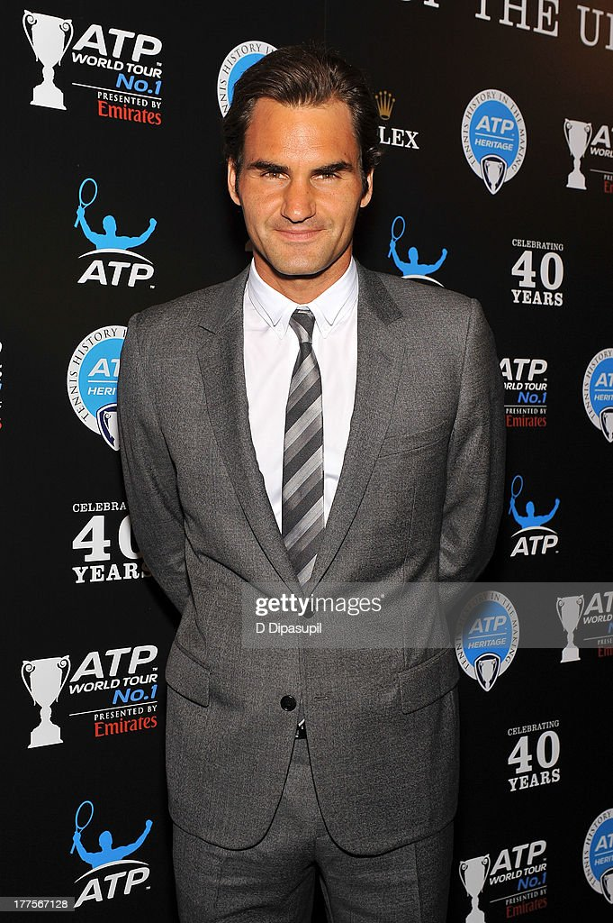 Professional tennis player Roger Federer attends the ATP Heritage Celebration at The Waldorf=Astoria on August 23, 2013 in New York City.