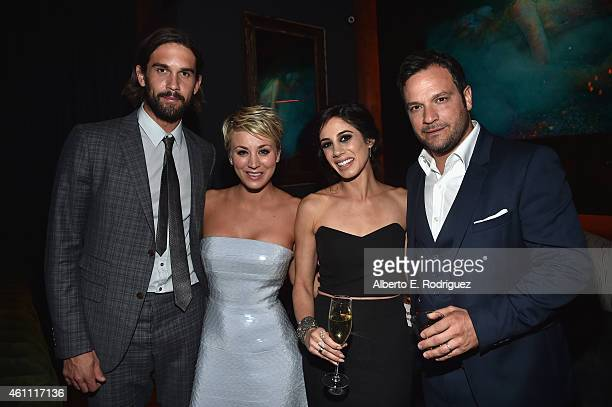 Professional tennis player Ryan Sweeting actress Kaley CuocoSweeting Samantha Garelick and director Jerey Garelick attend the after party for the...