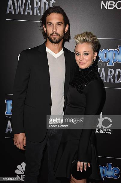 Professional tennis player Ryan Sweeting and actress Kaley CuocoSweeting attend the PEOPLE Magazine Awards at The Beverly Hilton Hotel on December 18...