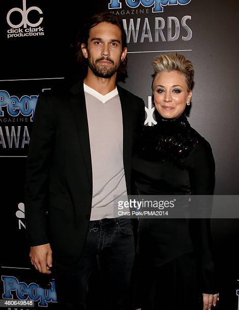 Professional Tennis player Ryan Sweeting and actress Kaley Cuoco attend the PEOPLE Magazine Awards at The Beverly Hilton Hotel on December 18 2014 in...