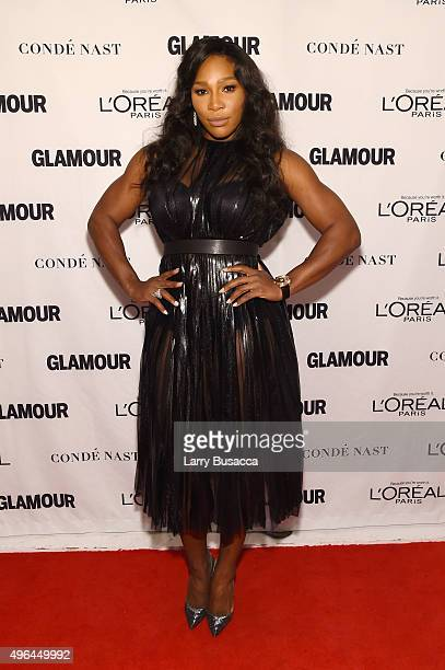 Professional tennis player Serena Williams attends 2015 Glamour Women Of The Year Awards at Carnegie Hall on November 9 2015 in New York City