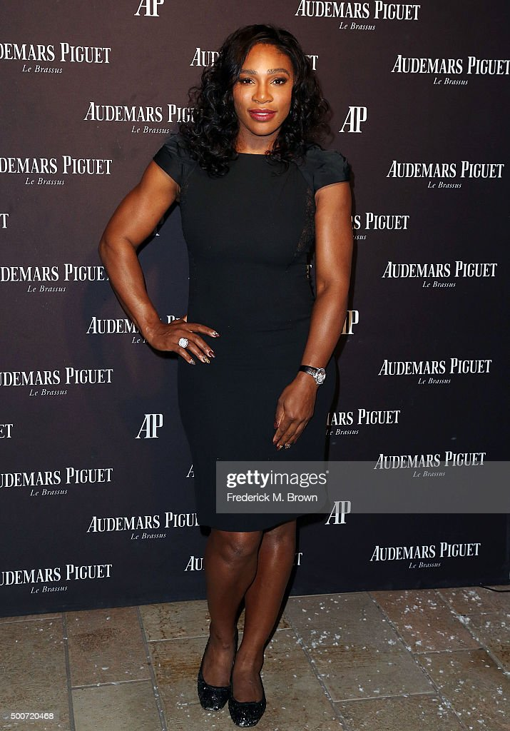 Professional tennis player Serena Williams attends Audemars Piquet Celebrates Grand Opening of Rodeo Drive Boutique on December 9, 2015 in Beverly Hills, California.