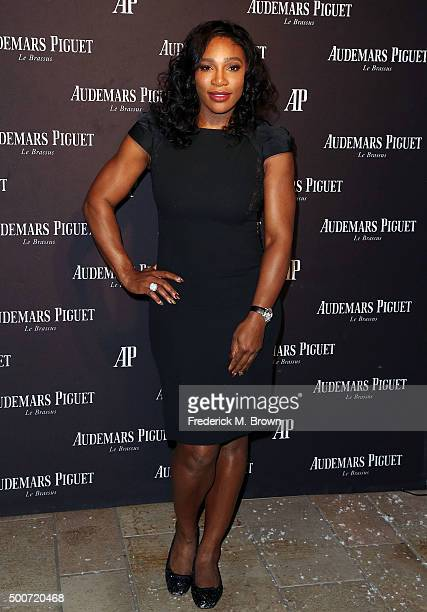 Professional tennis player Serena Williams attends Audemars Piquet Celebrates Grand Opening of Rodeo Drive Boutique on December 9 2015 in Beverly...