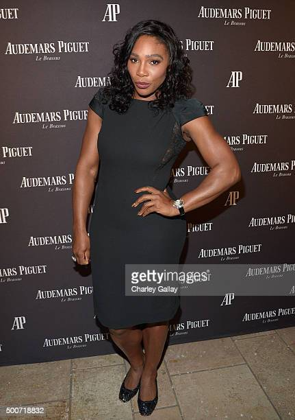 Professional tennis player Serena Williams attends the Opening of Audemars Piguet Rodeo Drive at Audemars Piguet on December 9 2015 in Beverly Hills...
