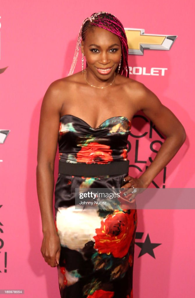 Professional tennis player <a gi-track='captionPersonalityLinkClicked' href=/galleries/search?phrase=Venus+Williams&family=editorial&specificpeople=171981 ng-click='$event.stopPropagation()'>Venus Williams</a> attends Black Girls Rock! 2013 at New Jersey Performing Arts Center on October 26, 2013 in Newark, New Jersey.