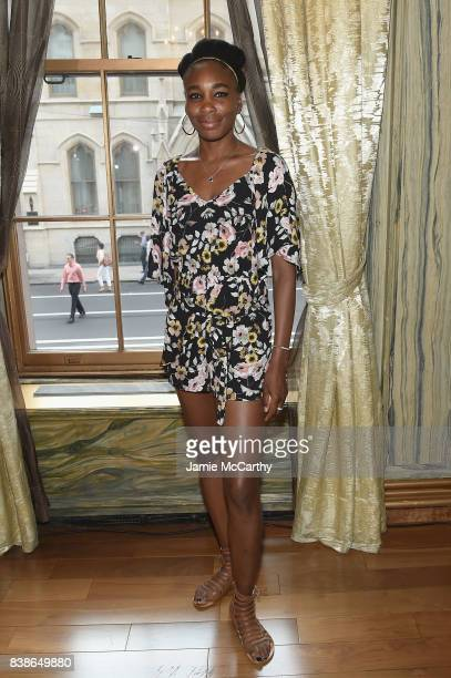 Professional tennis player Venus Williams attends the 2017 Lotte New York Palace Invitational at Lotte New York Palace on August 24 2017 in New York...