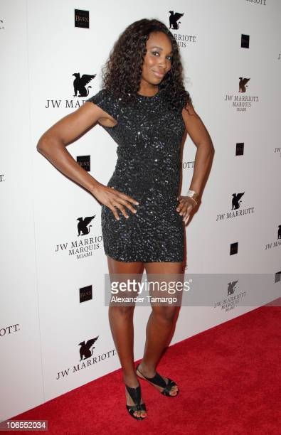 Professional tennis player Venus Williams attends the Grand Opening Celebration of JW Marriott Marquis on November 4 2010 in Miami Florida