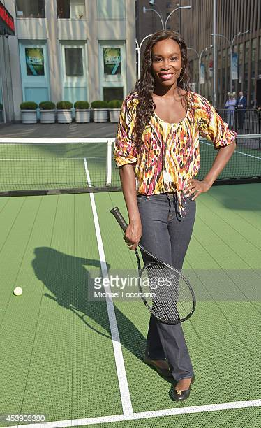 Professional tennis player Venus Williams visits 'FOX Friends' at FOX Studios on August 21 2014 in New York City