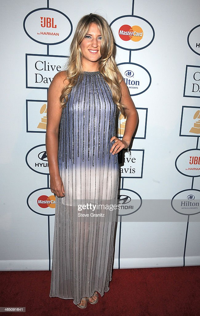 Professional tennis player Victoria Azarenka attends the 56th annual GRAMMY Awards Pre-GRAMMY Gala and Salute to Industry Icons honoring Lucian Grainge at The Beverly Hilton on January 25, 2014 in Los Angeles, California.