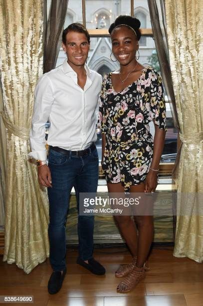 Professional tennis players Rafael Nadal and Venus Williams attend the 2017 Lotte New York Palace Invitational at Lotte New York Palace on August 24...
