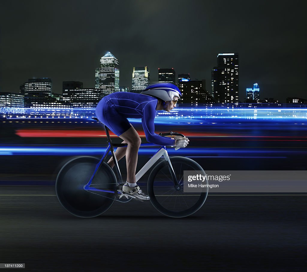 Professional Velodrome cyclist in London : Stock Photo