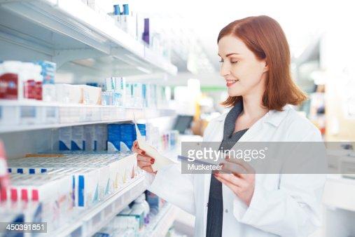 Professional with medicine and prescription