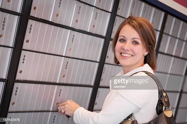 Professional woman checks the mailbox (XXL)