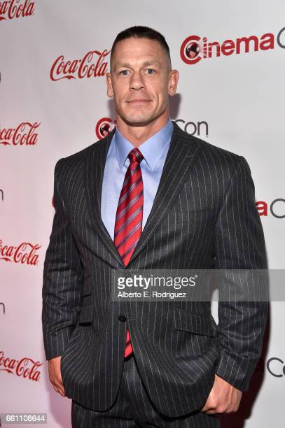 Professional wrestler and actor John Cena recipient of the Action Star of the Year Award attends the CinemaCon Big Screen Achievement Awards brought...