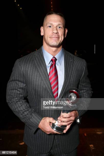 Professional wrestler and actor John Cena recipient of the Action Star of the Year Award at the CinemaCon Big Screen Achievement Awards brought to...